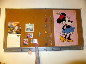 Disney always plays a part in my room. Always.